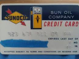 sun oil pany gasoline credit card sunoco vine 1964 1 of 4 sun oil pany gasoline credit card sunoco