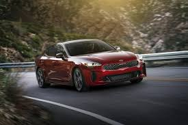 2018 kia luxury. perfect 2018 with its long hood and strong haunches the 2018 kia stinger telegraphs  power assertiveness to kia luxury