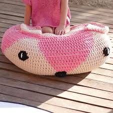 Knitted Pouf Pattern Interesting Decorating Design