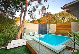 Pool Designs For Small Backyards Extraordinary OFTB Melbourne Landscaping Pool Design Construction Project