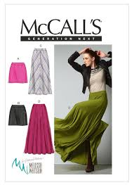 Mccalls Pattern New M48 Misses' Mini or Maxi Skirts Sewing Pattern McCall's Patterns