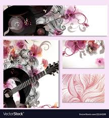 Swirls Templates Music Templates With Guitar And Swirls