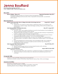 7 Example Resume Student Martini Pink