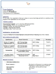 Resume Format For Freshers Free Download Latest In Word Menu And