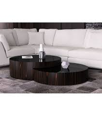 sayer contemporary round nesting coffee table ebony with tables decor 17