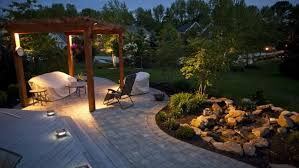 landscape lighting trees. a back yard with gazebo rocks trees and outdoor lighting landscape