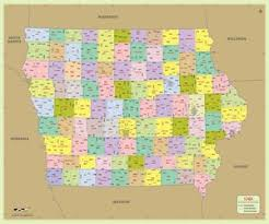 Image result for map of iowa counties and cities