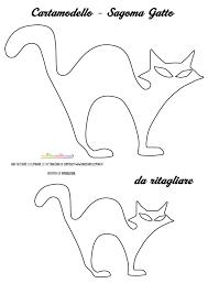 Sagome Gatto Da Stampare Colorare E Ritagliare