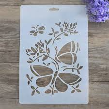 Wall Painting Paper Design Diy Craft Butterfly Layering Stencils For Walls Painting