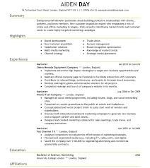 marketing and sales cv resume format job templates marketing and jobs examples sample for