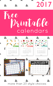 2017 Free Printable Calendars Crafting In The Rain