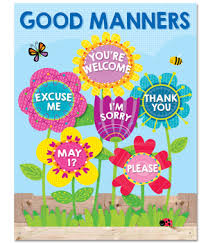 Flowers Good Manners Chart