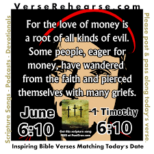 Bible Quote Money Is The Root Of All Evil