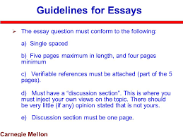 carnegie mellon communications organizations technology course  carnegie mellon guidelines for essays  the essay question must conform to the following a