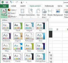 Excel Slice Theme How To Use Theme Formatting In Excel 2013 Dummies