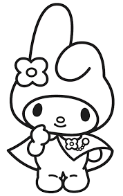 Print free hello kitty coloring sheets and her friends for coloring. My Melody Coloring Pages