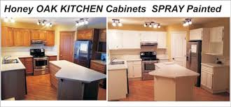 painted oak kitchen cabinets before and after. Kitchen Cabinets Windows Doors Bookshelves Baseboards Trim Needs To Become One Color . This Will Give A More Spacious Feel As You Walk In Your Painted Oak Before And After