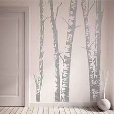 silver birch wall art