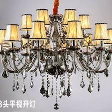 smoked crystal lighting chandelier bedroom dining room living room modern simple chandelier crystal chandelier lighting malaysia
