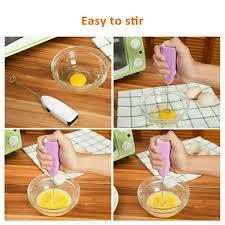 Matingting Bếp Điện Sữa Frother Uống Bọt Máy Đánh Trứng Máy Khuấy Cà Phê  Trứng Beater Màu Xanh