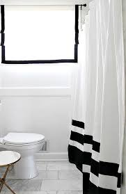 black and white shower curtains. Black And White Color Block Shower Curtain Curtains E