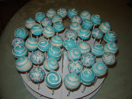 Decorating Cake Balls baptism decorations ideas Blue and White Baptism Cake Pops 55