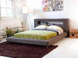 Image of: Contemporary Queen Platform Bed Frame with Storage