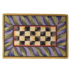 mackenzie childs rug courtly check runner