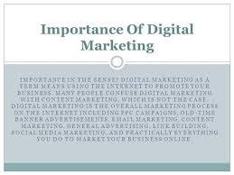 Importance Of Digital Marketing Ppt Authorstream