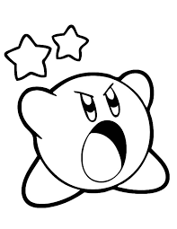Print a beautiful coloring page from kirby. Kirby Scream Loud Coloring Pages Kids Play Color