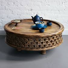 carved wood coffee table west elm with regard to round wooden ideas 10