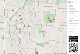 denver printable tourist map  sygic travel