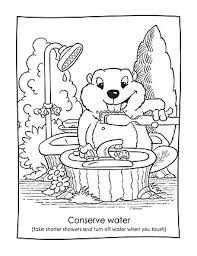 Save Water Coloring Pages Under Kdergarten Water Conservation