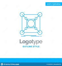 Data Center Logo Design Blue Logo Design For Base Center Connection Data Hub
