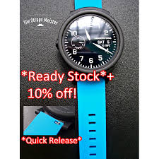 <b>20mm Soft Silicone Watch Band</b> by The Straps Meister with Quick ...