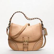 Coach Poppy Leather Whipstitch Hobo in Brass