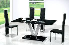 modern black dining table with glass room round white kitchen chairs tall sets wood and cape