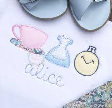Teacup, dress, pocket watch blanket <b>stitch trio</b> | <b>Disney</b> applique ...