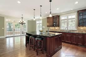 dark wood kitchen cabinets. Perfect Dark Traditional Dark WoodCherry Kitchen Cabinets 53 KitchenDesignIdeasorg On Wood