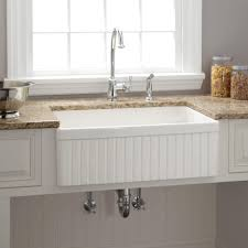 30 apron sink. Delighful Sink Farm Sink With Faucet Holes 30 Apron 33 White Barn House  Farmhouse Cabinet Throughout