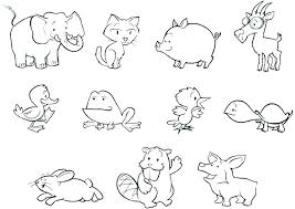 Farm Animals Coloring Page Pages Baby Zoo Animal Precious Moments