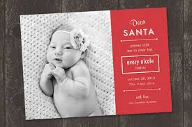 Dear Santa Christmas Birth Announcement Print Ready File Etsy