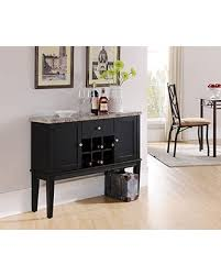 sofa table with wine storage. Kings Brand Furniture Black Wood With Marble Finish Breakfront Cabinet Buffet Wine Storage Console Table Sofa