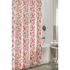 floral shower curtain. Allen + Roth Polyester Coral Floral Shower Curtain C