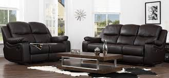 montreal espresso brown reclining 3 2 seater leather sofa set