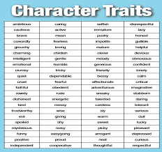 character traits make poster or cards for trait wall literacy character traits make poster or cards for trait wall