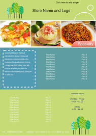 free food menu templates a free customizable food menu template is provided to download and