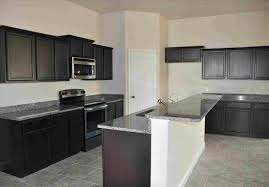 Light Gray Kitchen Cabis With Black Countertops Back Stage With Kim