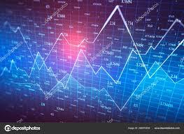 Creative Forex Chart Wallpaper Stock Photo Peshkov