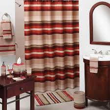 Maroon Bathroom Accessories Lodge Shower Curtain Rings